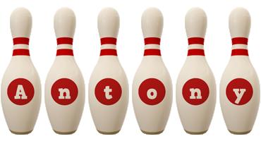 Antony bowling-pin logo