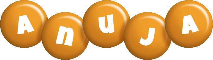 Anuja candy-orange logo