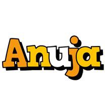 Anuja cartoon logo