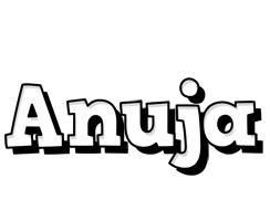 Anuja snowing logo