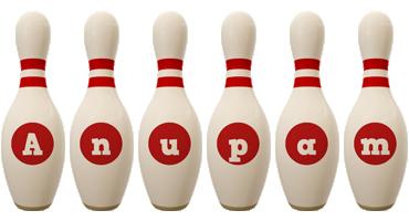 Anupam bowling-pin logo