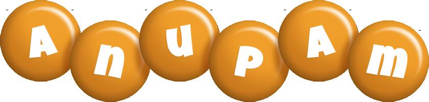 Anupam candy-orange logo