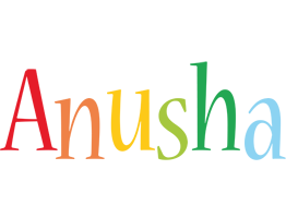 Anusha birthday logo