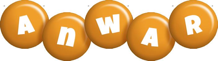 Anwar candy-orange logo