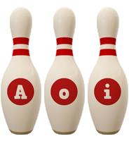 Aoi bowling-pin logo