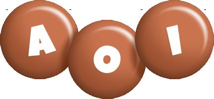 Aoi candy-brown logo
