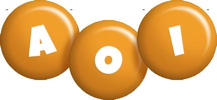Aoi candy-orange logo