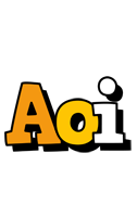 Aoi cartoon logo