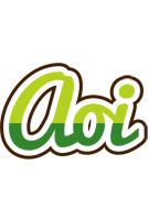Aoi golfing logo