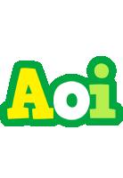 Aoi soccer logo