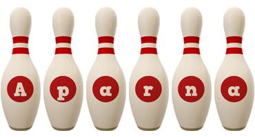 Aparna bowling-pin logo