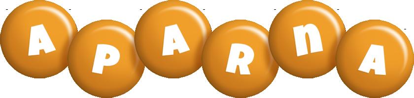Aparna candy-orange logo