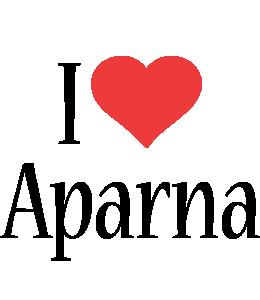 Aparna i-love logo