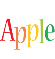 Apple birthday logo