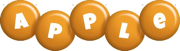 Apple candy-orange logo