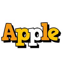 Apple cartoon logo