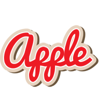 Apple chocolate logo