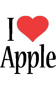 Apple i-love logo