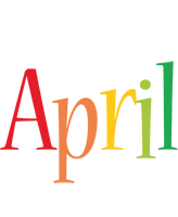April birthday logo