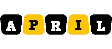 April boots logo
