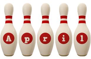 April bowling-pin logo