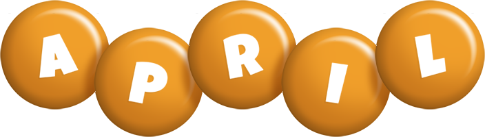 April candy-orange logo