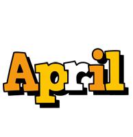 April cartoon logo