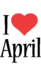 April i-love logo
