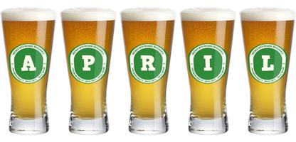 April lager logo