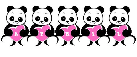 April love-panda logo