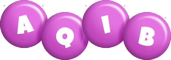 Aqib candy-purple logo