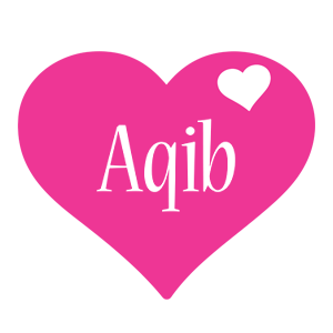 Aqib love-heart logo