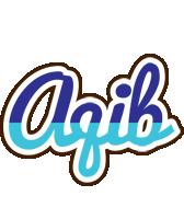Aqib raining logo