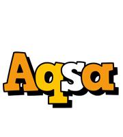 Aqsa cartoon logo