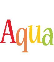 Aqua birthday logo