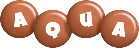 Aqua candy-brown logo