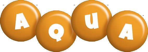 Aqua candy-orange logo