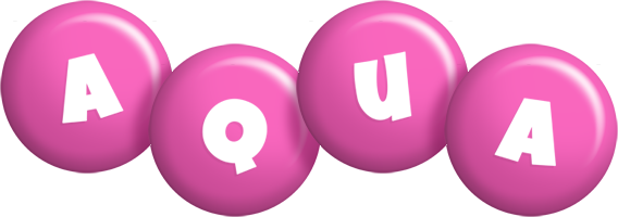 Aqua candy-pink logo