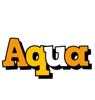 Aqua cartoon logo