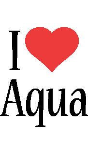 Aqua i-love logo