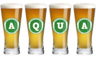 Aqua lager logo