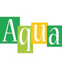 Aqua lemonade logo