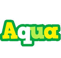 Aqua soccer logo