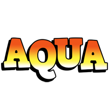 Aqua sunset logo