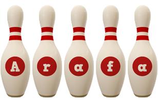 Arafa bowling-pin logo