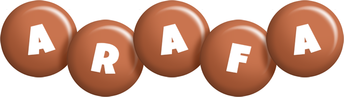 Arafa candy-brown logo