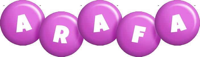Arafa candy-purple logo