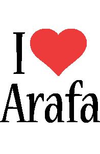Arafa i-love logo