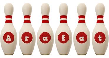 Arafat bowling-pin logo
