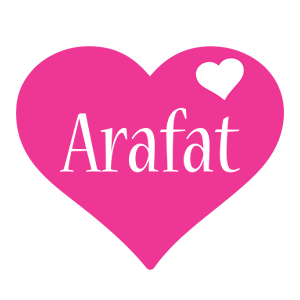 Arafat love-heart logo